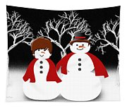 Mr And Mrs Snow 1 Tapestry