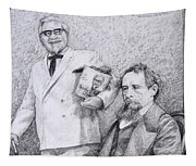 Mr Chicken And Mr Dickens Tapestry