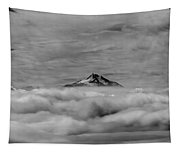 105355-mt. Jefferson Above The Clouds,or,bw Tapestry