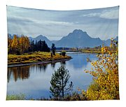 1m9208-mt. Moran And The Snake River, Wy Tapestry