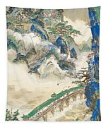 Mt Penglai Mountain Of Immortals Tapestry
