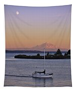 Mt. Rainier Afterglow Tapestry
