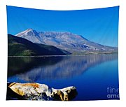 Mt St Helens Reflecting Into Spirit Lake   Tapestry