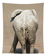 Muddy Elephant With Funny Stance  Tapestry
