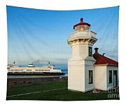 Mukilteo Ferry And Lighthouse Tapestry