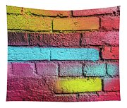 Multi-colored Brick Wall Tapestry