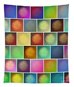 Multicolored Suns Tapestry