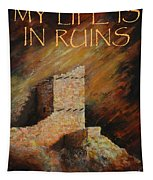 Mummy Cave Ruins II Greeting Card Tapestry