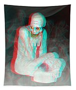 Mummy Dearest - Use Red-cyan Filtered 3d Glasses Tapestry