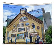 Mural In Beaupre Quebec Tapestry