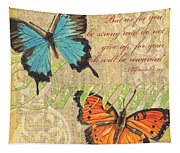 Musical Butterflies 1 Tapestry