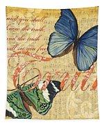 Musical Butterflies 3 Tapestry