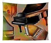 Musical Instruments With Keyboards Tapestry