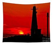 Muskegon Light Sunset Tapestry