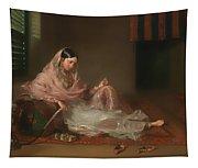 Muslim Lady Reclining Tapestry
