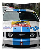 Mustang Race Car Tapestry