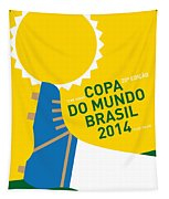 My 2014 World Cup Soccer Brazil - Rio Minimal Poster Tapestry