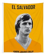 My Cruijff Soccer Legend Poster Tapestry by Chungkong Art