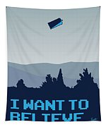 My I Want To Believe Minimal Poster- Tardis Tapestry