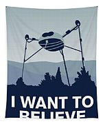 My I Want To Believe Minimal Poster-war-of-the-worlds Tapestry