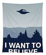 My I Want To Believe Minimal Poster-xfiles Tapestry by Chungkong Art