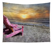 My Life As A Beach Chair Tapestry