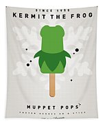 My Muppet Ice Pop - Kermit Tapestry by Chungkong Art