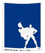My Superhero 03 Super Blue Minimal Poster Tapestry
