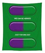 My Superhero Pills - The Hulk Tapestry by Chungkong Art