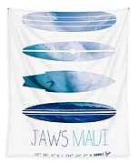 My Surfspots Poster-1-jaws-maui Tapestry