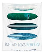 My Surfspots Poster-3-punta De Lobos-chile Tapestry