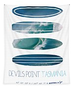 My Surfspots Poster-5-devils-point-tasmania Tapestry by Chungkong Art