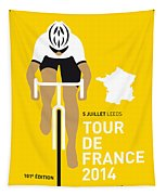 My Tour De France Minimal Poster 2014 Tapestry