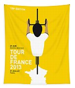 My Tour De France Minimal Poster Tapestry