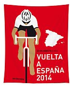 My Vuelta A Espana Minimal Poster 2014 Tapestry by Chungkong Art