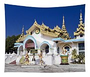 Myanmar Buddhist Temple Tapestry