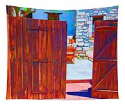 Mysterious Courtyard Tapestry