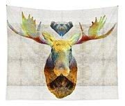 Mystic Moose Art By Sharon Cummings Tapestry
