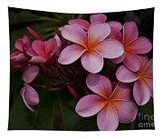 Na Lei Pua Melia O Wailua - Pink Tropical Plumeria Hawaii Tapestry