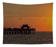 Naples Sunset Tapestry