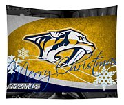 Nashville Predators Christmas Tapestry