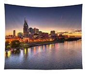 Nashville Skyline Panorama Tapestry