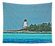 Nassau Bahama Lighthouse Tapestry