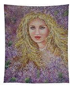 Natalie In Lilacs Tapestry