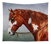 Native American War Horse Tapestry