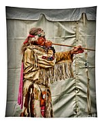 Native American With Blowgun Tapestry