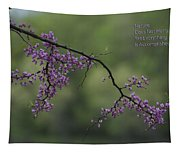 Nature Does Not Hurry Blossoms In Purple Tapestry