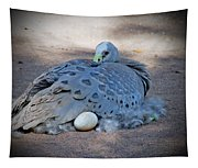 Bird Laying Egg Tapestry