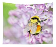 Natures Buzzing Beauty Tapestry
