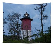 Nauset Lighthouse Amid The Scrub Pines Tapestry
